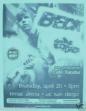 "Beck / Cafe Tacuba 2000 ""Midnight Vultures Tour"" San Diego Concert Poster"