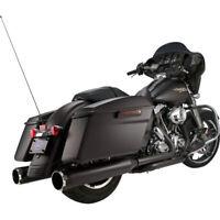 """Harley S&S Cycle Mk 45 Escape Touring 99-16 Negro Deslizarse On Silenciador 4,5"""""""