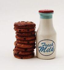 NEW! Milk & Cookies Set of Magnetic Salt & Pepper Shakers Kitchen Gift 8992