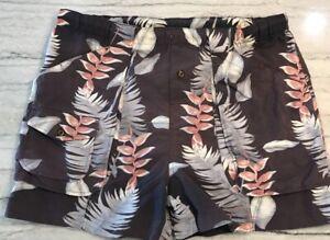 Tommy Bahama Paradise Nation Surf Swimsuit Shorts Trunks Men XL Tropical Purple
