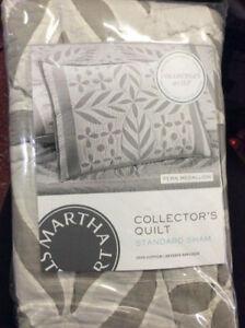 Martha Stewart-Fern Medallion Collector's Quilt Standard Sham NIP