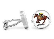 Horse Jockey Cufflinks Horse Derby Racing Cuff Links (Executive Edition)