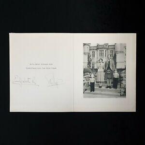 Rare 1952 Queen Elizabeth II R Signed Autograph Duke Prince Philip Signature UK