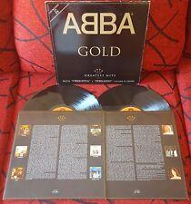 ABBA **Gold - Greatest Hits** RARE 2-LP SET Spain w/ INSERT *SPANISH TRACKS 1992