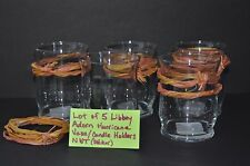 "Lot of 5 Libbey ""Adorn"" Hurricane Vases Candle Holders 4.25"" Votives Tea Lights"