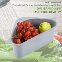 Kitchen Triangle Storage Holder Multifunctional Drain Shelf Storage Rack US 2019