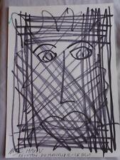 Royston Du Maurier-Dibujo Original LEBEK firmado Fieltro Punta Pluma de la cara en papel (S)