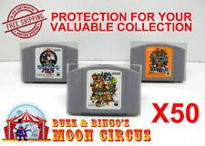 50X NINTENDO N64 JAPAN IMPORT CARTRIDGE -CLEAR PLASTIC PROTECTIVE BOX PROTECTOR