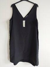 NEW M&S LADIES SIZE 18 PER UNA BLACK SHIFT DRESS MODAL BLEND