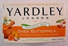 Yardley London Sensitive Skin Shea Buttermilk Bar Soap 4.25 oz Vegan