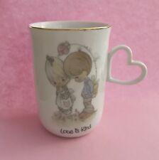 "Enesco Precious Moments Mug with Heart Shaped Handle•""Love is Kind""•Euc"