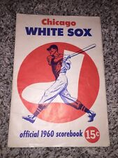 1960 CHICAGO WHITE SOX BASEBALL 15 CENT SCORE BOOK Program Comiskey Park