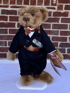 """Pickford Bears """"Dex"""" Brass Button Collection 20th Century Collectible Tag Stand"""
