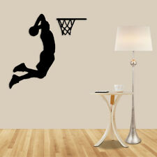 10*10 cm Girl Basketball Sport Black Wall Stickers Wallpaper Decal Home  Decor