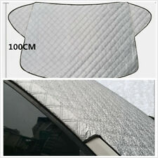 Universal Car Front Windshield Snow Frost Sun Cover Waterproof PVC Fabric Silver