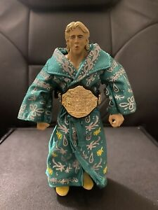 WWE Jakks Classic Superstars Figure Lot Ric Flair w Green Robe & Belt Wrestling