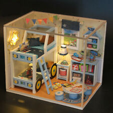 DIY Wooden Dolls House Miniature Kit With Light for Kids Toy Gift Sweet Home
