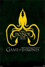 GAME OF THRONES ~ EURON GREYJOY CREST 24x36 TV Sigil Logo We Do Not Sow