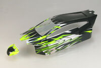 1:8 Karosserie Buggy Xonic grün/schwarz lackiert -PET-