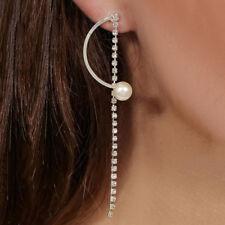 Fashion Rhinestone Tassel Chain Pendant Women Jewelry Earrings Dangle Long Drop
