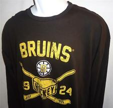 Original Retro Brand Boston Bruins NHL Vintage Long Sleeve T-Shirt Sz XL