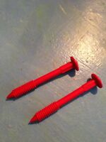 2 - Little Tikes COZY COUPE 30th Anniversary Red ROOF FASTENERS