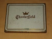 VINTAGE TOBACCO CHESTERFIELD CIGARETTES METAL BOX TIN
