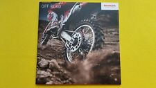 Honda Trials CRF 125FB 110F 50F 150RB 250R 450R motorcycle brochure 2017 MINT