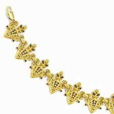 "Jackie Kennedy French Herald Gold-Plated Bracelet 7"" + 2"" Ext. Camrose & Kross"
