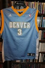 Denver Nuggets Iverson Adidas basketball jersey Youth sz L (b134)