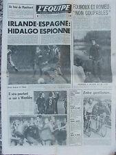 L'Equipe du 9/2/1977 - Irlande-Espagne - Bessèges - Fouroux et Romeu -