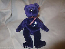 Beanie Baby Princess Diana No Space No Stamp Tush Tag Error PE Pellets China Ty