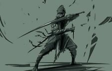 Stampa incorniciata-giapponese ninja samurai (PICTURE POSTER asiatico Arti Marziali Cinesi