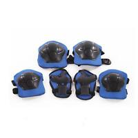 Kids Children 6pcs Roller Skating Knee Elbow Wrist Protective Pad Gear gift IY