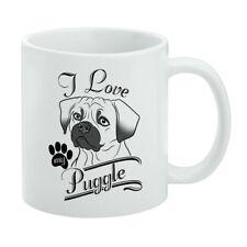 I Love My Puggle White Mug