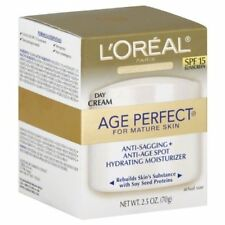 5 Pack - L'Oreal Age Perfect for Mature Skin Day Cream SPF 15 2.50 oz Each