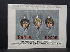 Illustrated London News Engraving 19th Century Hand Color S2#15 Fry's Cocoa