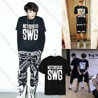 KPOP BTS T-shirt Bangtan Boys V Jimin Rap Monster Unisex Tshirt Cotton Tee Tops