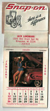 1986 Snap-On Tools Tool Chest  Calendar Pretty Girls With Tools Un-Used