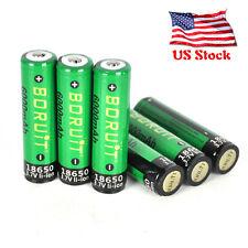 Protected 6PCS Boruit 3.7V 6000mAh 18650 Li-ion Battery for Flashlight Headlamp
