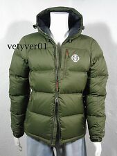 Polo Sport RALPH LAUREN Channel-Quilted Hooded Ripstop Down Jacket Green sz L
