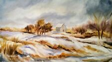 """FRESH SNOW oil on canvas 10X16"""" muted colors and lots of motion Awesome  Sale!"""