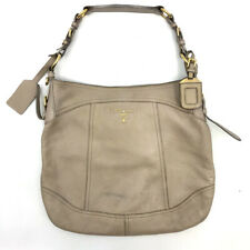 Prada Vitello Daino Hobo Shoulder Bag Taupe Leather Gold Hardware Top Zip