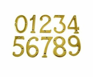 """Brass Door Numbers & Letters 3"""" ( 75 mm ) Polished Solid 