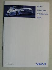 Prospekt / Preisliste Volvo Modelle 1996, 1.1996, 24 Seiten