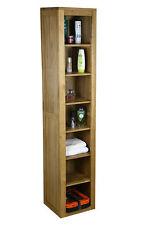 Tall Solid Oak Cabinet | Bathroom & Living Room Storage Furniture MB-022