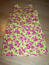 Girl's Size 7 Maggie Breen Yellow Floral Print Sundress Sun Dress Flowers Summer