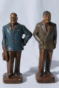 Syroco Great Americans Series Diamond Jim & Will Rogers Figurines