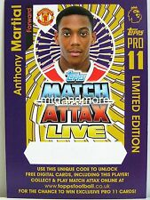 Match Attax 2016/17 PREMIER LEAGUE-LIMITED ANTHONY Martial-Online Code