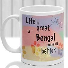 Taza de Gato de Bengala, Bengala Gato de regalos, ideales para presentes amante de los gatos